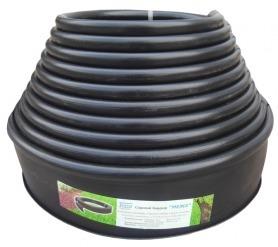 Бордюрная лента Экобордюр стандарт (черная), 11см х 10м фото
