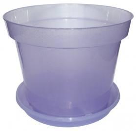 Горшок с поддоном для орхидей, D190, 2.5л, 190х135х155, фиолетовый блеск фото