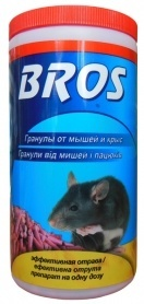 Гранулы от мышей и крыс, 250г, 14411, BROS фото