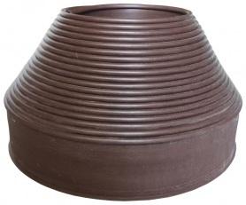 Бордюрная лента Экобордюр мини (коричневая), 11см х 20м фото