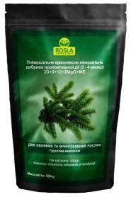 Комплексное минеральное удобрение для хвойных и вечнозеленых Mivena (Мивена), 500г, NPK 23.5.12+2MgO+ME, TM ROSLA (Росла) фото