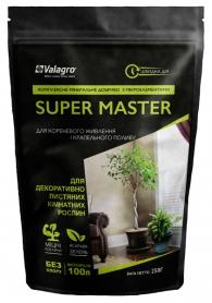 Комплексное минеральное удобрение для декоративно-лиственных комнатных растений Super Master (Супер Мастер), 250г, NPK 17.6.18, Valagro (Валагро) фото
