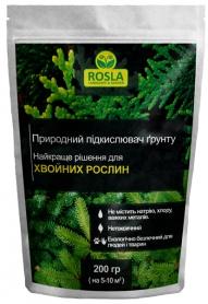 Минеральное удобрение подкислитель почвы для хвойных растений, 200г, TM ROSLA (Росла) фото