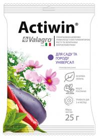 Комплексное минеральное удобрение для сада и огорода Actiwin (Активин), 25г, NPK 12.5.20, Valagro (Валагро) фото