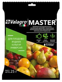 Комплексное минеральное универсальное удобрение для плодово-ягодных культур Master (Мастер), 25г, NPK 20.20.20, Valagro (Валагро) фото