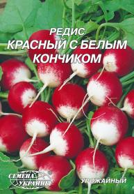 Семена редиса Красный с белым кончиком, 20г, Семена Украины фото