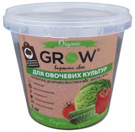 Органическое удобрение для овощных культур ТМ Grow (Multimix bio), 1кг, Весна-Лето фото