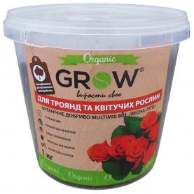 Органическое удобрение для роз и цветущих растений ТМ Grow (Multimix bio), 1кг, Весна-Лето фото
