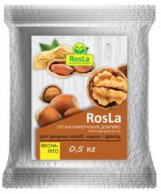 Органо-минеральное удобрение для грецких орехов, лещины и арахиса, 500г, Весна-Лето, NPK 5.5.5, TM ROSLA (Росла) фото