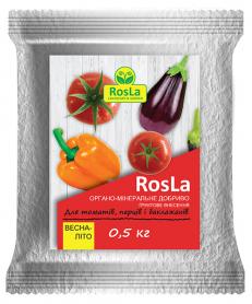 Органо-минеральное удобрение для томатов, перцев и баклажан, 500г, Весна-Лето, NPK 5.5.5, TM ROSLA (Росла) фото