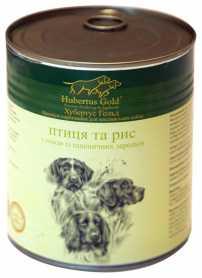 Влажный корм для собак Hubertus Gold Птица и рис, 800г фото
