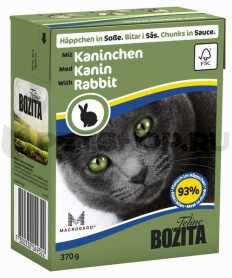 Влажный корм для котов Bozita мясные кусочки в соусе с кроликом, 370г фото