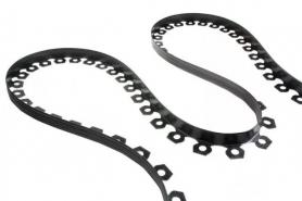 Бордюрная лента Универсальная (черная) + 20 колышков, 10м фото