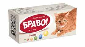 Витамины для котов БРАВО, 60 табл.(6х10), Arterium фото