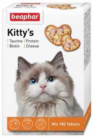 Витамины для взрослых кошек Beaphar Kitty's Mix, 180табл. фото