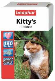 Лакомство для кошек Beaphar Kitty's + Protein, 180табл. фото