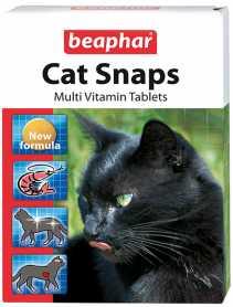 Лакомство для кошек Beaphar Cat Snaps с креветками, 75 табл. фото