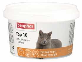 Мультивитаминная добавка Beaphar Топ 10 для кошек, 180 табл. фото
