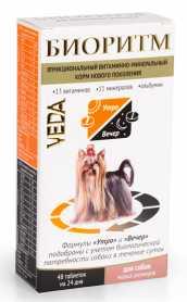 Витаминно-минеральная добавка для собак мелких пород Биоритм, 48табл., Veda фото
