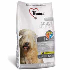 Сухой корм для взрослых собак всех пород 1st Choice Hypoallergenic со вкусом утки и картошки, гипоаллергенный, 2.72кг фото