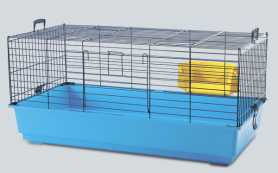 Клетка-переноска для кроликов Savic Titus, синяя, 55х39х26см фото