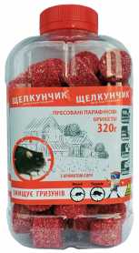 Родентицид парафиновые брикеты от грызунов Щелкунчик с ароматом сыра, красные, 320г фото