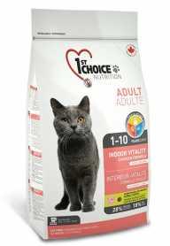 Сухой корм для взрослых котов 1st Choice Indoor Vitality Chicken со вкусом курицы, 5.44кг фото