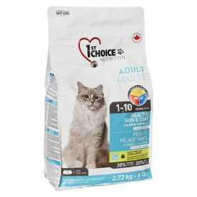 Сухой корм для взрослых котов 1st Choice Healthy Skin&Coat Adult со вкусом лосося, 2.72кг фото