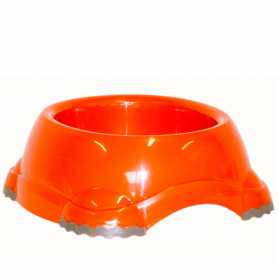 Миска для собак Moderna Smarty №2 пластик, оранж, 735мл, d-16см  фото