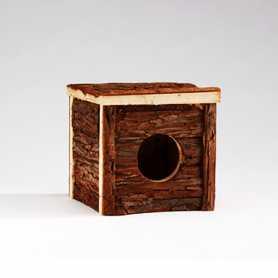 Домик для грызунов Pet Pro, форест класик, дерево, вишня, 15х15х14см фото