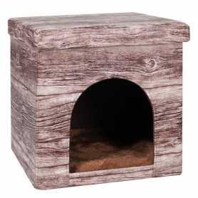 Домик для котов и собак Chalet Hous Karlie Flamingo, ткань, 38х38х37см фото