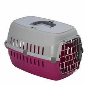 Переноска для собак и кошек Moderna roadrunner 1 с металлической дверью IATA, ярко-розовая, 51х31х34см фото