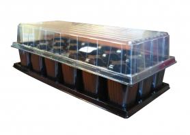 Парничок для рассады ВЛ, 18 яч, касс. 440х205х80 мм, яч. 55х55х75 мм, т.с. 0,9 мм, пластиковый фото