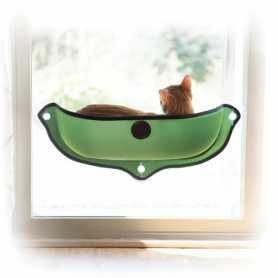 Спальное место на окно для котов K&H Ez Mount Window Bed, зеленый, 68,58x27,94см фото