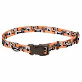 Ошейник для собак Coastal Pet Attire нейлон оранжевая кость 1,6 см. Х35 см фото