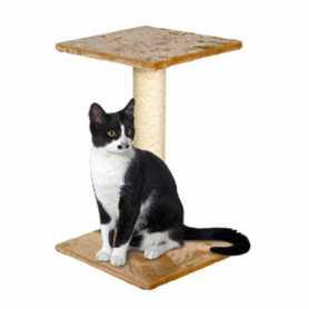 Когтеточка для кошек с платформой Flamingo Wilma Beige,  29х29х40см фото