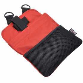 Сумка для лакомств при обучении и тренировки собак Coastal Multi-Function Treat Bag, красный, 17,5х22,5см фото