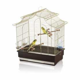 Клетка для попугайчиков Imac Pagoda Export пластик, синий, 50х30х53см, 2,54кг фото