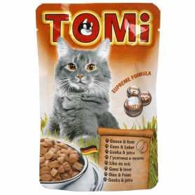 939782 Консервы для кошек TOMi goose liver, влажный корм, пауч, гусь, печень, 100г фото