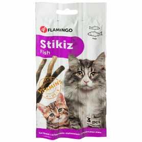 Лакомство для кошек и котят Karlie Flamingo Stikiz Fish, со вкусом рыбы 15г, 3ед. фото