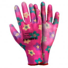 Перчатки ТМ Sigma трикотаж с частичным ПУ покрытием р7 (красные манжет) 1/12, 9446301-0618 фото