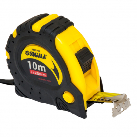 Рулетка TM Sigma магнитная фиксатор + тормоз 10м*25мм, 3823101-9280 фото
