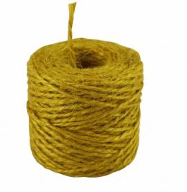 Шпагат джутовый желтый, 1.1 ктекс, 45 м/бобина фото
