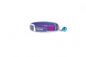 32489 Ошейник 'CoLLaR GLAMOUR' без украшений из резин д / кошек (шир.9мм, дл.22-30см) фиолетовый фото