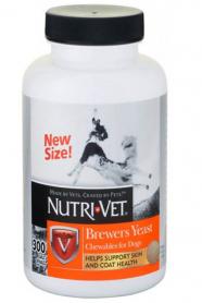 02510 Nutri-Vet Бреверс ЭСТ (Brewers Yeast) комплекс для шерсти собак, 300 табл. фото