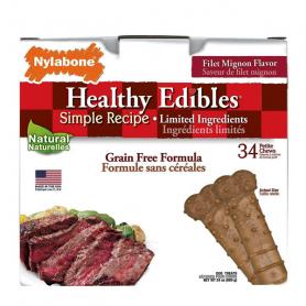 83081Nylabone HEALTHY EDIBLES PETITE беззерновые лакомства для собак до 7 кг, филе миньон 1 шт  фото
