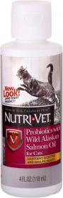 99849 Nutri-Vet пробиотики с МАСЛОМ ЛОСОСЯ (Probiotics Salmon Oil) для котов, 118 мл. фото