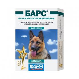 Барс ин.акариц. д/собак 1 пип фото