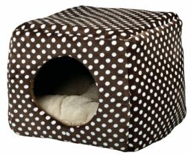 Дом-трансформер для котов 'Mina' 40×32×40 см коричневий/беж,36324 фото