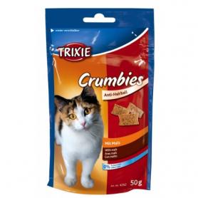 Витамины для кошек Crumbies with Malt д/вывед. комочков шерсти 50гр фото